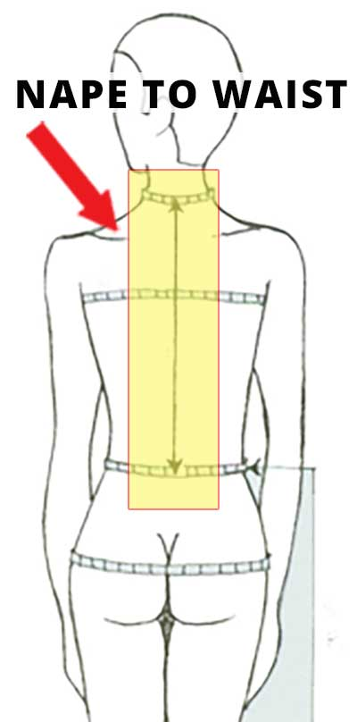Measurement - Nape To Waist