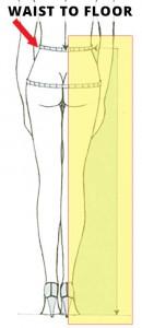 Measurement - Waist To Floor