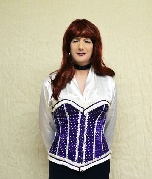 Phaze polka dot ribbon trim boned corset