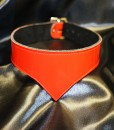 Red pointed tip patent leather choker