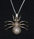 Sterling Silver Large Spider Necklace
