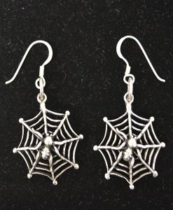 Sterling Silver Spiderweb Earrings