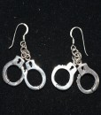 Sterling Silver Working Handcuffs Earrings