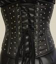 Studded-underbust-leatherette-corset-back