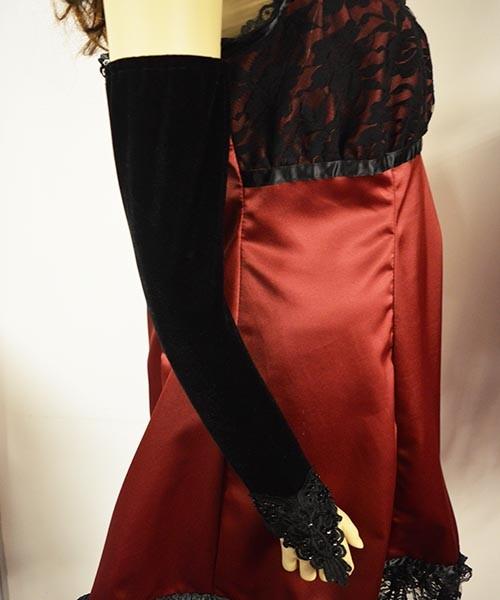 Long lolita velvet fingerless gloves