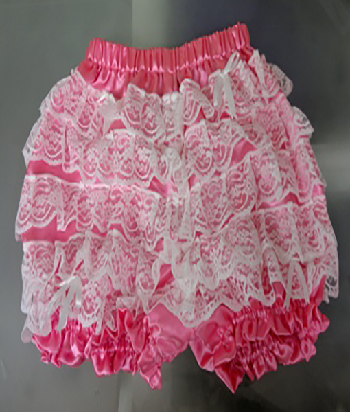 079e07bc85 Pink Satin Frilly Knickers - Wicked Waists