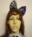 marble effect latex bow headband