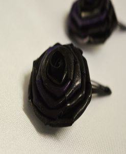 Latex rose hairclip