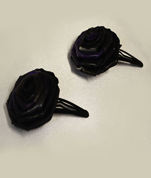 Marble effect latex rose hairclip