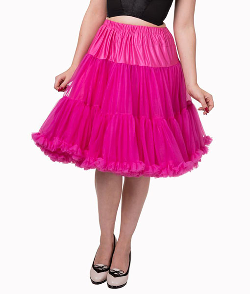 Vintage style lifeforms petticoat hot pink