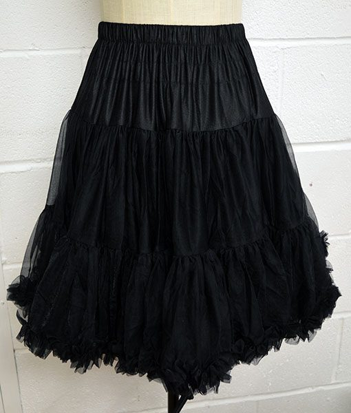 vintage style walkabout petticoat black