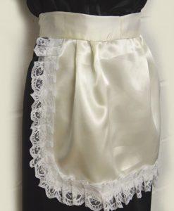 cream satin apron