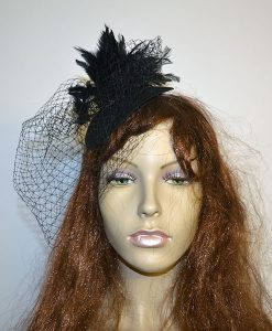 Feather & Net Fascinator Headband