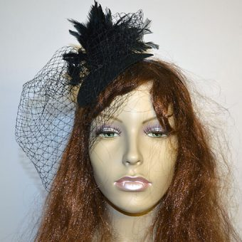 Feather & Net Fascinator Headband
