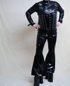 black pvc trouser
