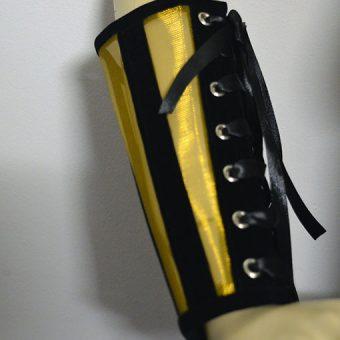 Gold metallic cuffs