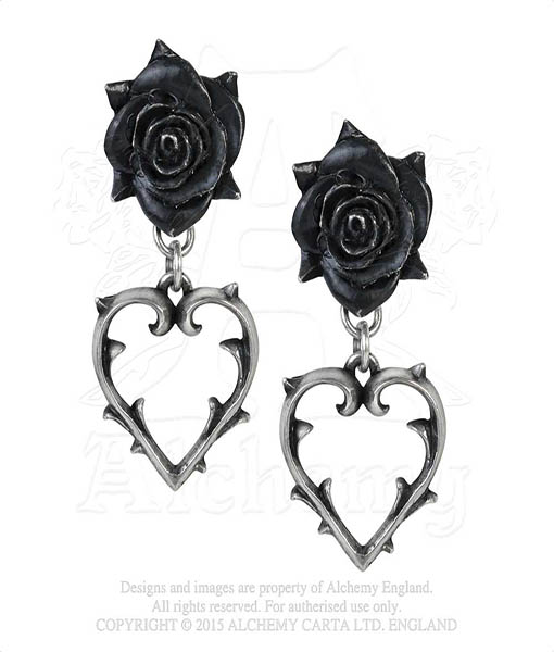 pair of wounded love earstuds