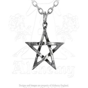 Small pentagram necklace