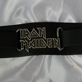 Alchemy Rocks Iron Maiden Logo Leather Wriststrap