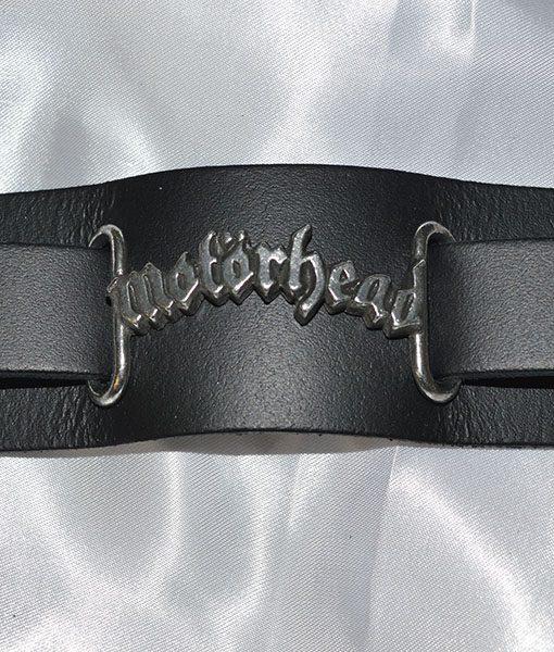 Alchemy Rock Motorhead Logo Leather Wriststrap