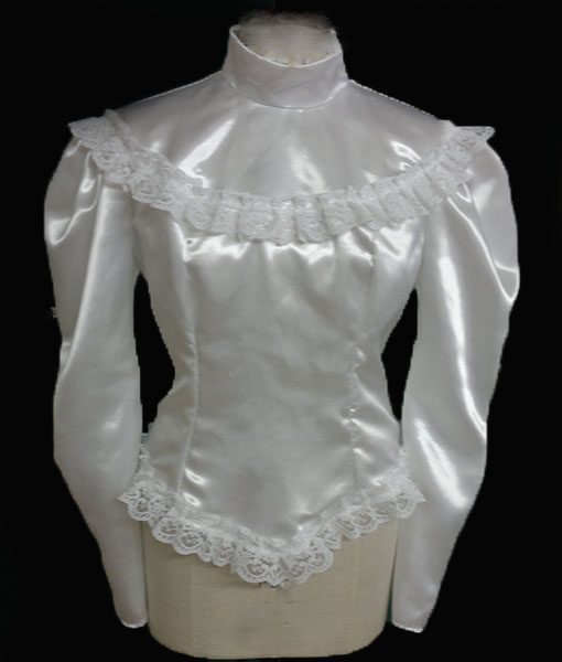 Victorian Gothic Style White Lace Blouse