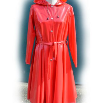 Romatica Raincoat red pvc