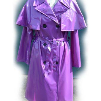 The capulette Raincoat Violet pvc