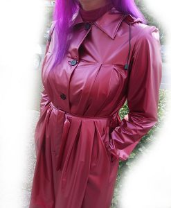 Pvc 1950s Pleated Raincoat