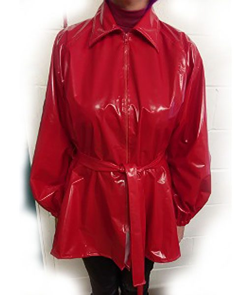 Red Glossy Pvc Jacket