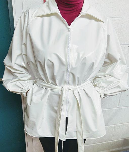 White Glossy Pvc Jacket