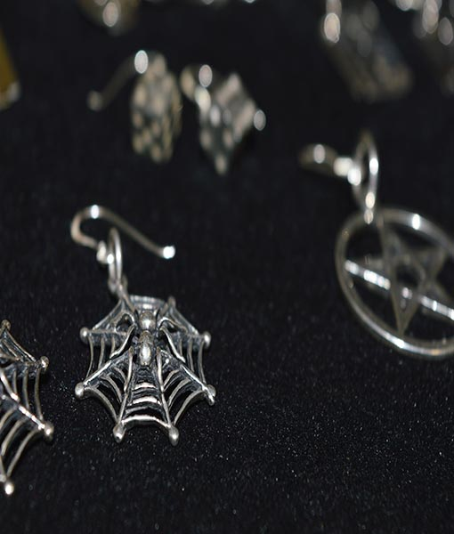 Selection of sterling silver earrings