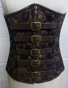 Time Clocks Buckle Underbust Corset