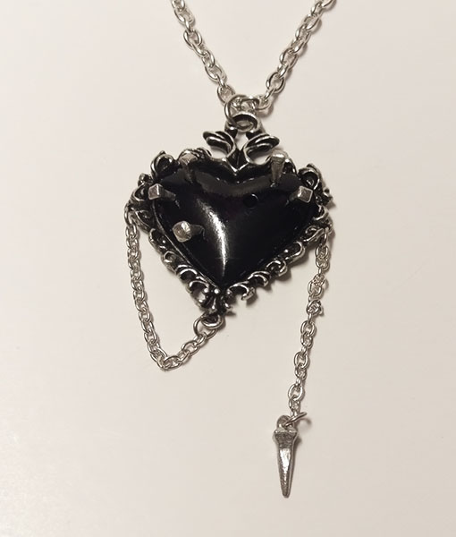 withches heart pendant unpiercing nail