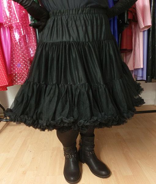 Black Vintage Retro Style Starlite Petticoat