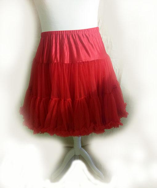 Red Vintage Style Starlite Petticoat