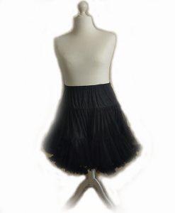 Black vintage style starlite petticoat