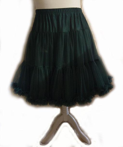 Bottle Green Vintage Style Starlite Petticoat