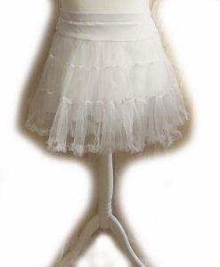 white mini petticoat
