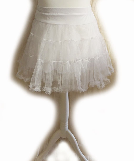 white mini petticoat