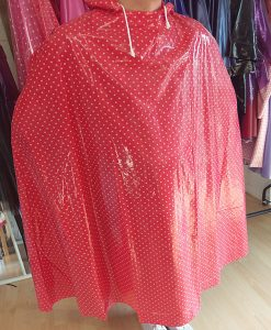 Red & White Dot Enclosed Cape